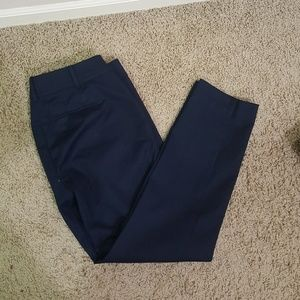 NEW Petite Navy full length  straight fit pant